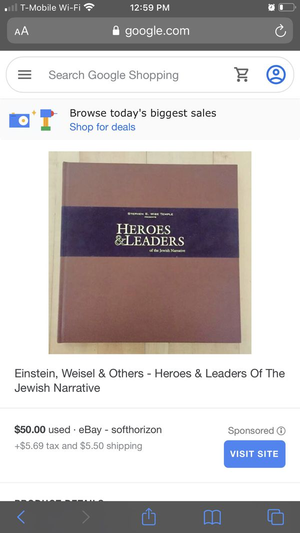 Heroes & Leaders Of The Jewish Narrative Book - BOGO Of Equal Or Lesser Value