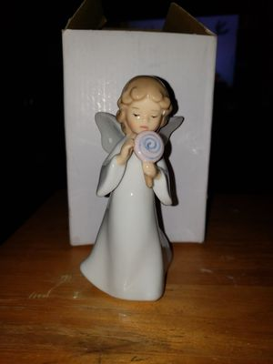 NEW PORCELAIN ANGEL WITH LOLLIPOP for Sale in Columbia, SC