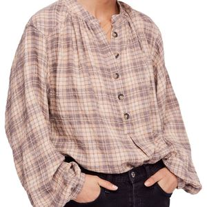 Free People Northern Bound Flannel Pullover Blouse for Sale in New Braunfels, TX