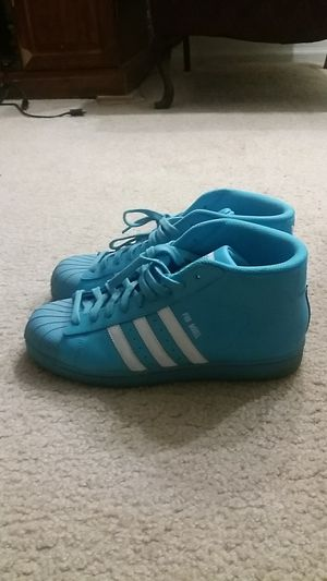 Men's Adidas Pro Model fashion sneakers (Turquoise) Size 9 And a half for Sale in St. Louis, MO