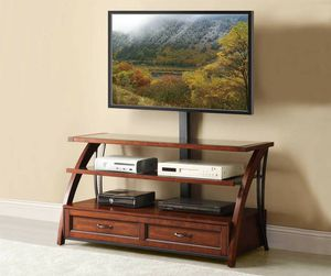 Entertainment center with an attached TV mount for Sale in Columbia, MD