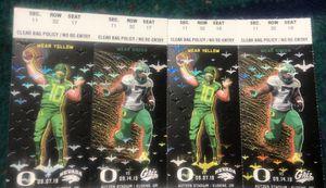 50 Yard Line Oregon Ducks Football Tickets for Sale in Tigard, OR