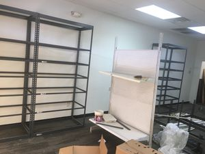 I have 8 metal shelves in excellent condition$85 each for Sale in Conyers, GA