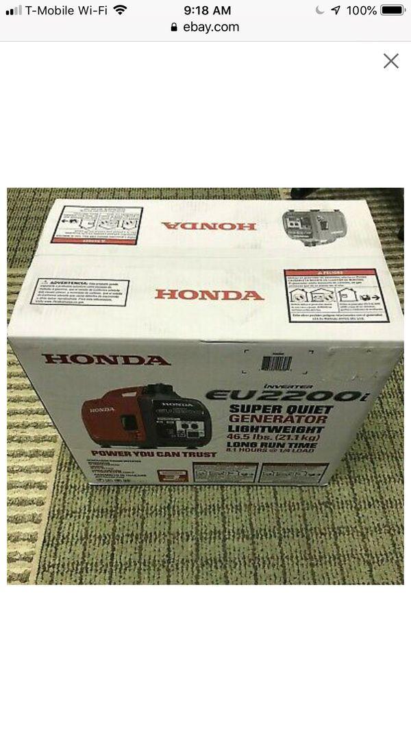 Honda generator EU2200I ( New )