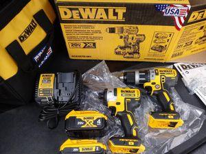 DeWalt combo hammer drill and impact XR brushless 20 volt for Sale in San Bernardino, CA