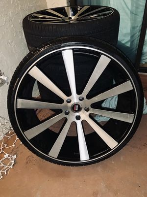 "24"" SPEC WHEELS AND LOW PRO TIRES**LIKE NEWWW!! for Sale in Tampa, FL"