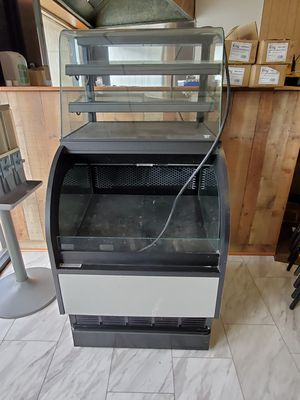 Nice refrigerator display case with glass top display case for Sale in Virginia Beach, VA
