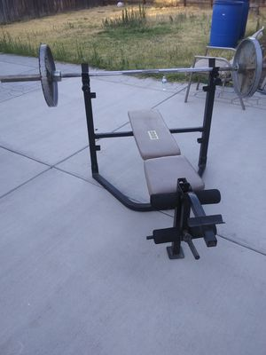 Standard weight bench for Sale in Fresno, CA
