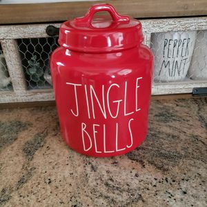 Rae Dunn Jingle Bells Canister for Sale in Fontana, CA