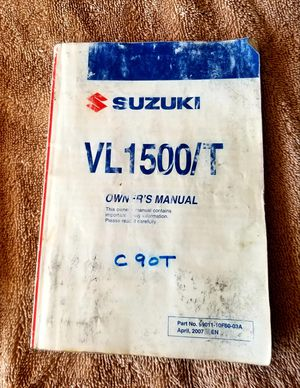 SUZUKI MOTORCYCLE VL1500 c90T OWNER'S MANUAL for Sale in Chandler, AZ