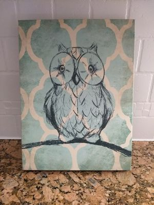 Wall Decor - Cute Owl Canvas Sign for Sale in Mauldin, SC