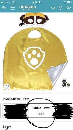Rubble cape and mask set for Sale in El Monte, CA