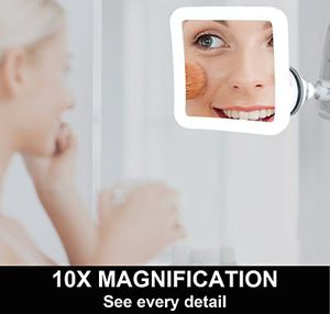 Makeup Mirror Fancii 10x Magnifying Lighted Daylight LED Travel Vanity for Sale in The Bronx, NY