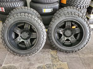 "20x12 Gear Alloy Rims and 33"" Mud Terrain Tires for Sale in Orange, CA"