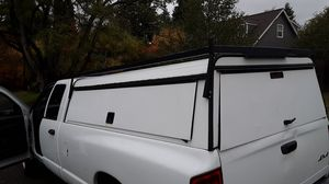 Locking canopy. Long bed. With shelves and rack for Sale in Tacoma, WA