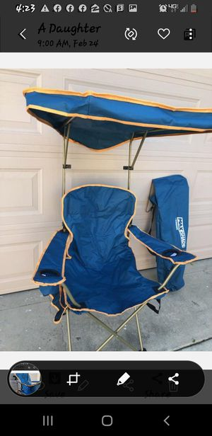 Heavy duty, teal color , sunbrella summer chair. for Sale in Pomona, CA
