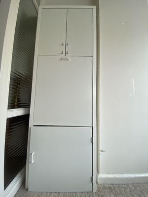 white wardrobe with foldable computer desk for Sale in Rockville, MD