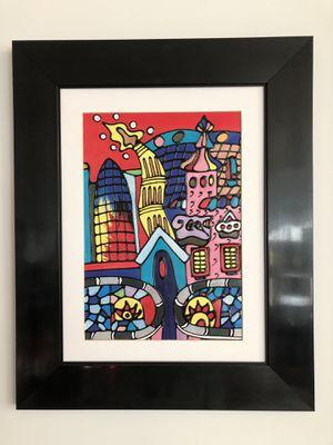 Barcelona skyline paintings for Sale in Washington, DC