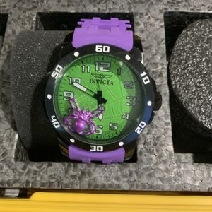 Invicta Green Face Purple Band Watch for Sale in Las Vegas, NV