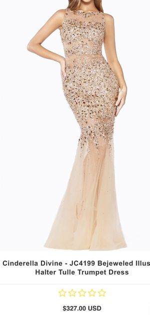 Sheer nude embellished gown for Sale in The Bronx, NY