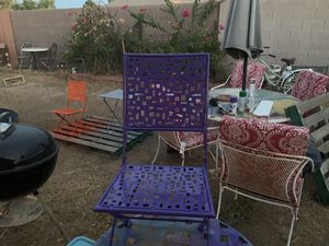 Kids table and chairs it's metal for Sale in Tempe, AZ