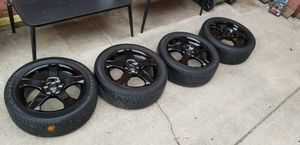 Black rims with tires for Sale in Baltimore, MD