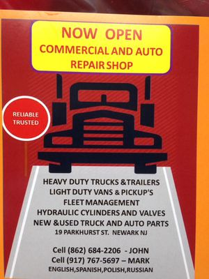 Auto and truck repair. We buying cars and trucks for Sale in Newark, NJ