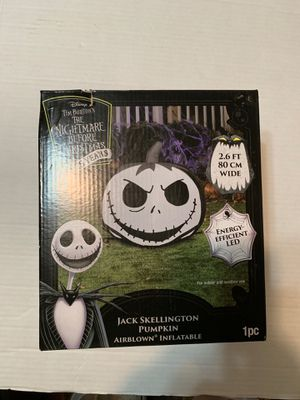 The Nightmare Before Christmas Jack Skellington Pumpkin Airblown Inflatable 25 Years for Sale in Peabody, MA