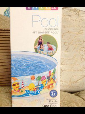 Intex snap set easy up pool kids pool 4 foot wide kiddie pool family fun summer swimming pool $25 pick up for Sale in City of Industry, CA