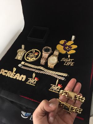 All sizes available!! 14K Gold Filled Cuban Chain and Bracelet!! We Do Custom Work!! Best Top Quality!! Contact us for more details!! for Sale in St. Louis, MO