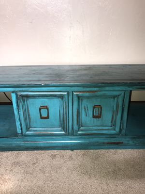 Turquoise Entertainment Center for Sale in Hutchinson, KS