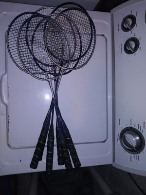 6 badminton rackets for Sale in Penbrook, PA