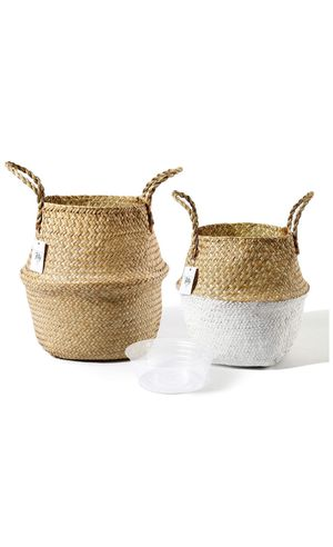 Seagrass Plant Basket Set of 2 for Sale in Hightstown, NJ
