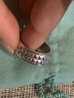 Tiffany And Co Silver Braid Weave Knot Celtic Love Wide Band Ring 7 for Sale in Aspen Hill, MD