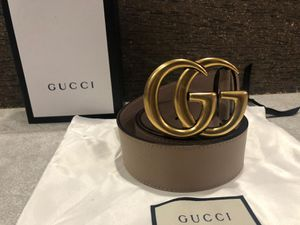 Gucci Dusty Pink Brass GG Belt *Authentic* for Sale in Queens, NY
