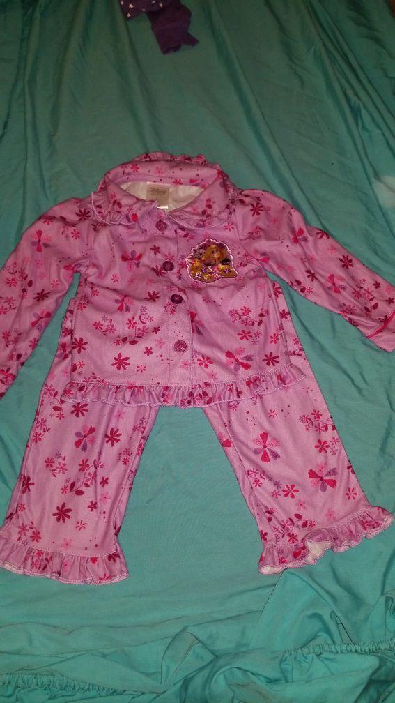 Dinsey store Rapunzel sleepwear 2t