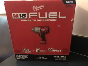 Milwaukee m18 1/2 high torque impact wrench for Sale in Tampa, FL