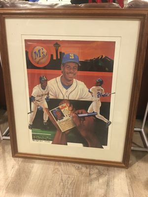Ken Griffey Jr. autograph on print 117/500 art for Sale in US