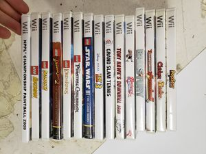 15 wii games all tested and working for Sale in Parma, OH