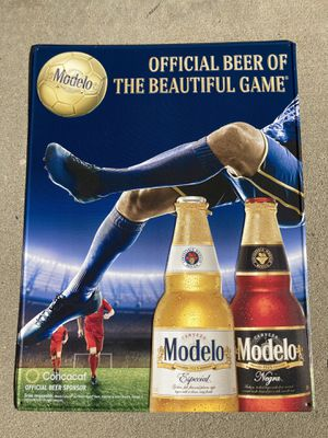 New Modelo Especial / Negra Soccer Metal Beer Bar tin Sign for Sale in Chino Hills, CA