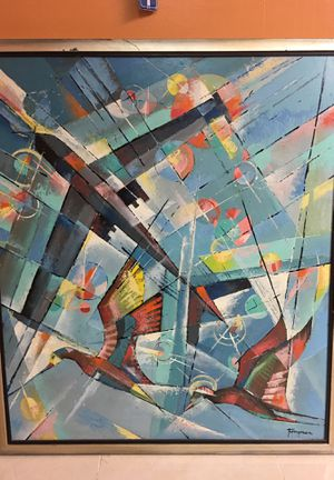 Francis Revesz-Ferryman (1893-1983) huge abstract painting for Sale in Miami, FL