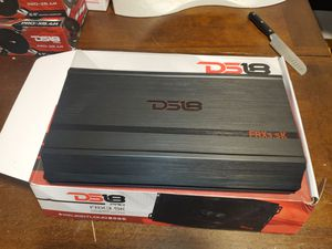 DS18 3500 Watts RMS Mono 1 Ohm Block Full Range Amplifier 1 Ch Class D FRX3.5K for Sale in The Bronx, NY