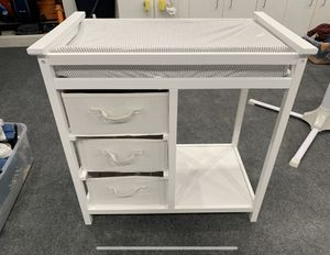 Baby changing table with pad and cover for Sale in Newport Beach, CA