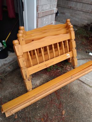 Twin size bed frame wood / no hardware , for Sale in Milton, FL
