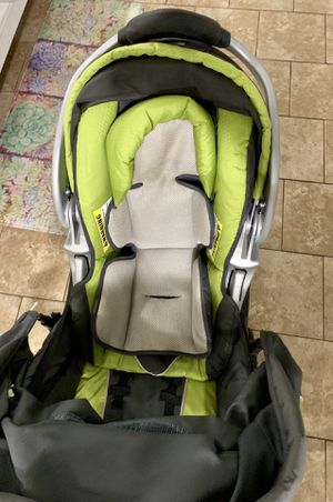 Jogging stroller with car seat and base for Sale in Lenexa, KS