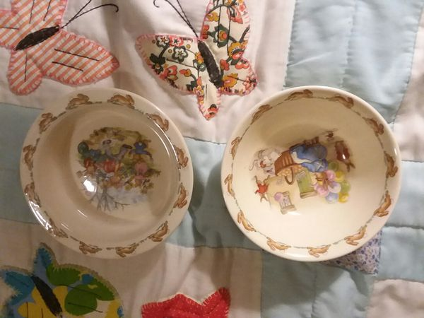 Lot of antique dishes