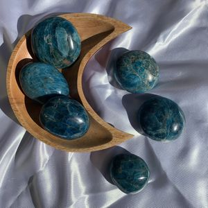 Blue Apatite Crystal Palm Stone For Crystal Healing And Metaphysical Healing for Sale in Garden Grove, CA