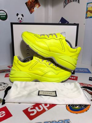 Gucci Rhyton Neon Yellow Shoes Size 10.5 for Sale in Lynwood, CA
