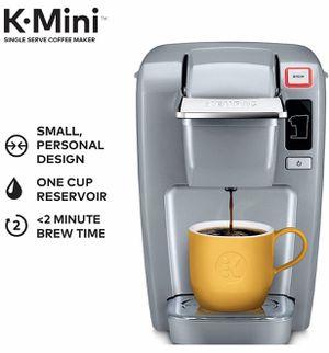 Keurig K-Mini K15 coffee maker in hard-to-find platinum color for Sale in Yorba Linda, CA