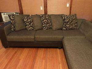 Sectional couch in good condition smoke free home for Sale in Chicago, IL